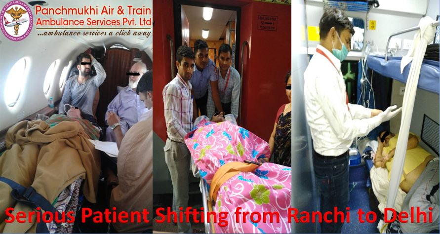 Immediate Patients Transfer by Panchmukhi Air Ambulance Service in Ranchi